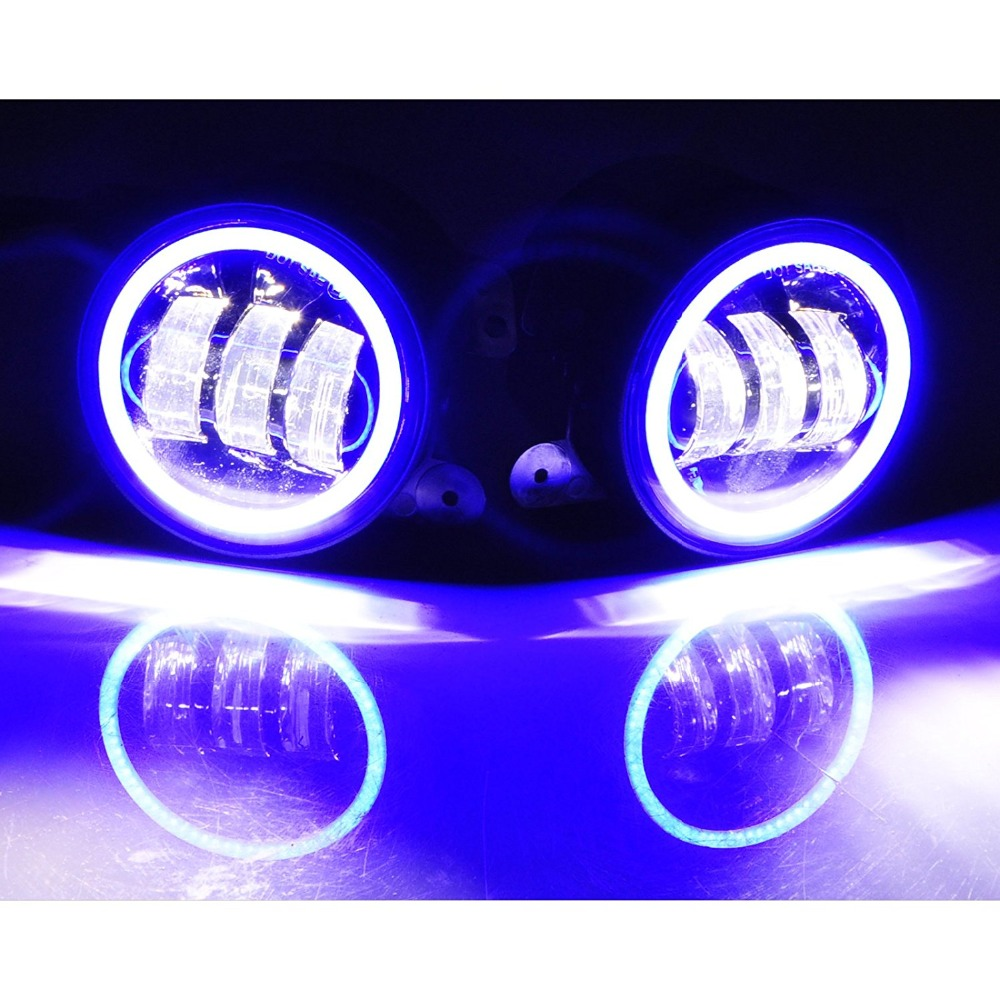 Image 3 - 2PCS 4Inch Round Led Fog Lights 30W 6000K White Halo Ring DRL Off Road Fog Lamps For Jeep Wrangler JK TJ LJ Grand Cherokee-in Car Light Assembly from Automobiles & Motorcycles