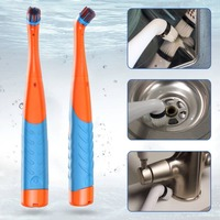 2 Set Handheld Electric cleaning Brush Household Cleaning Super Sonic Scrubber Cleaning Tools