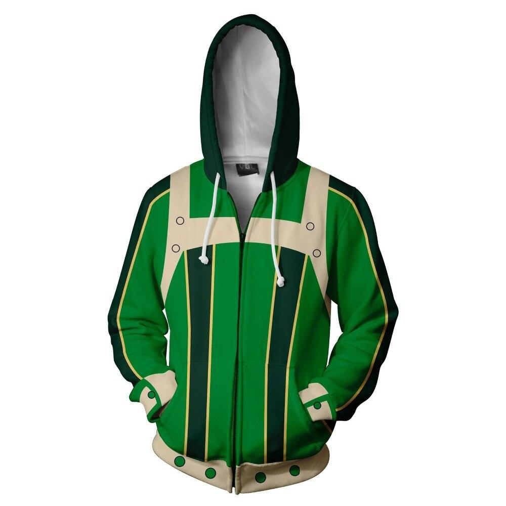 My Hero Academia Asui Tsuyu Cosplay Costume Women Men Winter Autumn Jacket 3D Printed Hoodie Sweatshirt zipper coat