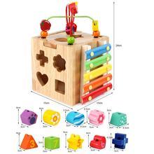 Star Wooden Cube Bead Maze Roller Coaster