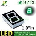 """Puro verde 1.8 polegada 1 Bit 7 Segmento LEVOU Exibição 1.8 """"1.8in Digital Tubo de Plástico de Metal (tubo de Nixie) ÂNODO Comum"""