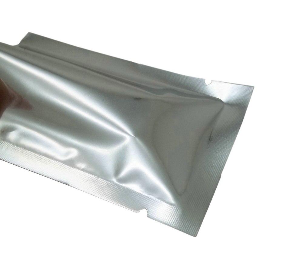 1000 шт./лот 5*7 см с открытым верхом серебристая алюминиевая фольга контейнер для закусок, скрепляющаяся с помощью тепла посылка сумка Пластик пакет из майлара вакуумные упаковочные пакеты