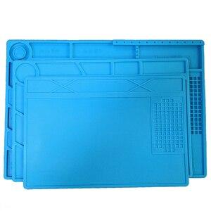 Image 1 - Esd tapete de trabalho, tapete de trabalho, resistente ao calor, estação de solda, reparo, almofada de isolamento, plataforma de manutenção