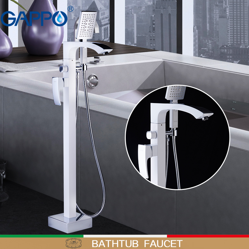 GAPPO robinet de douche do anheiro robinets blanc robinets de baignoire en laiton salle de bains pluie douche baignoire robinet robinet de baignoireGAPPO robinet de douche do anheiro robinets blanc robinets de baignoire en laiton salle de bains pluie douche baignoire robinet robinet de baignoire
