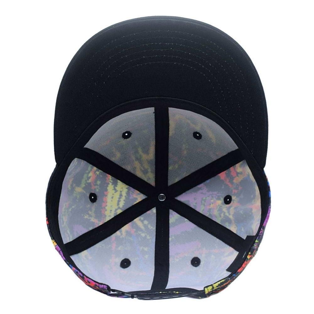 8efc64f5f7e68 Graffiti cielo estrellado cielo impreso venta al por mayor ajustable gorra  de béisbol Unisex Hip Hop camionero factura plana Multicolor líneas del  Snapback ...