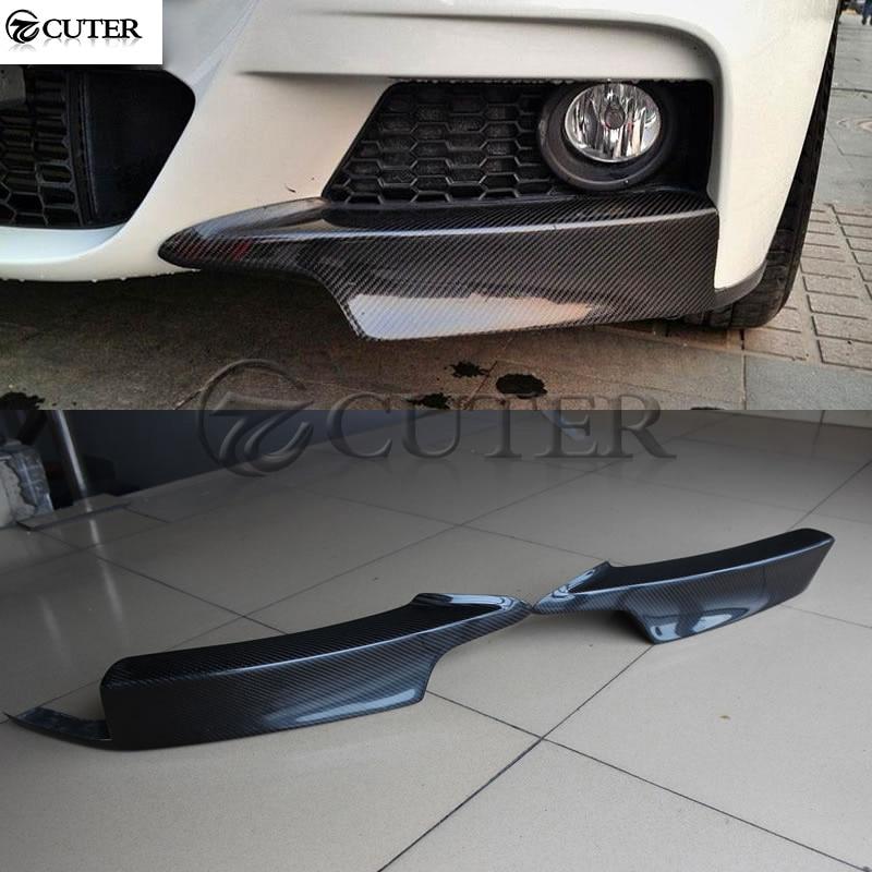 F30 MP style Fiber de carbone Auto voiture pare-chocs avant tabliers séparateur latéral pour BMW F30 3 série 320i 330i M-TECH garnitures de moulage de pare-chocs