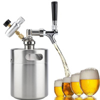 Stainless steel beer barrel mini bucket wine maker craft beer second hair container bar tabletop wine system