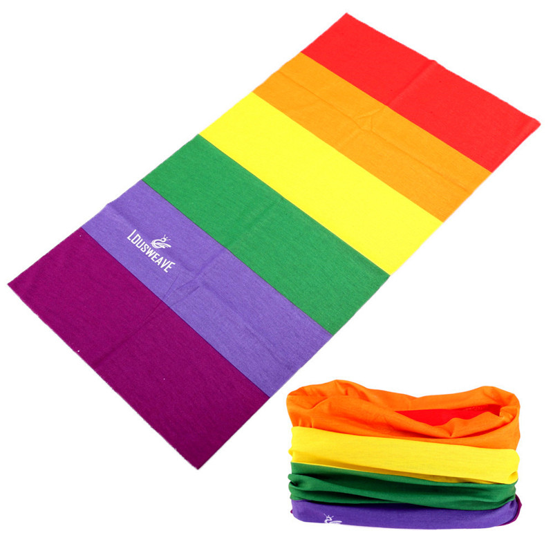 Rainbow Color Magic Seamless Bandanas Cycling Head Scarf Buffe Multi Use Headband Bicycle Bike Face Shield Mask Unisex   Headwear