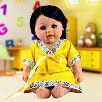 Hot Fashion Sliicone Reborn Baby Ethnic Dolls Toy Girls Boys Real Babies 48cm Play House Brinquedo
