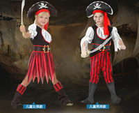 Halloween Cosplay 110 140cm Clothing 3 Pcs Set Kid Pirates Of The Caribbean Costume Hero Costume