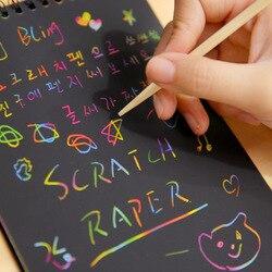 10x14 cm Zeichnung Bord Zeichnung Spielzeug Zeichnung Stick Kinder Bunte Schreiben Malerei Papier Schaben Buch Bildung Spielzeug