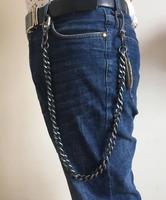 Basic Simple Strong Biker Trucker Motorcycle Pants Key Jean Long Wallet Chain Punk In Silver For