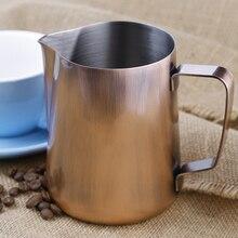 Edelstahl Milchaufschäumung Krug 600 ml Bronze Espresso Kaffee Krug Barista Handwerk Kaffee Latte Milchaufschäumung Krug
