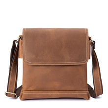 Messenger Bag for Men Business Briefcase Genuine Leather Men's Shoulder Cross body Handbag Bag Crazy Horse Casual Flap Male Tote men fashion business handbag dual use handbag shoulder bag tote flap bag chest bag