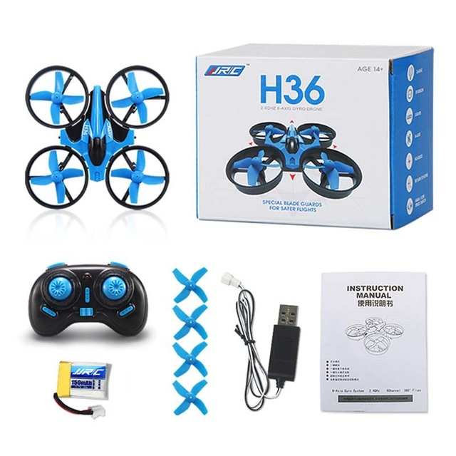 Original JJRC H36 RC Drone 2.4GHz 4CH Headless Mode One Key Return Quadcopters Mini Helicopter VS H8 H20 Dron Toys For Children