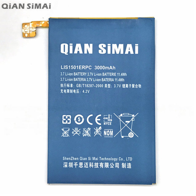 QiAN SiMAi High Quality lis1501erpc 3000mAh Battery For Sony Xperia ZL L35h L35i C6502 C6506 C6503 + Tracking Code