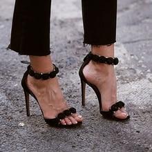 2017 Марка Женщины Насосы Sesy Высокие Каблуки сандалии Пряжки Ремень женская Обувь Peep Toe Высокие Каблуки Свадебная Обувь Женщина