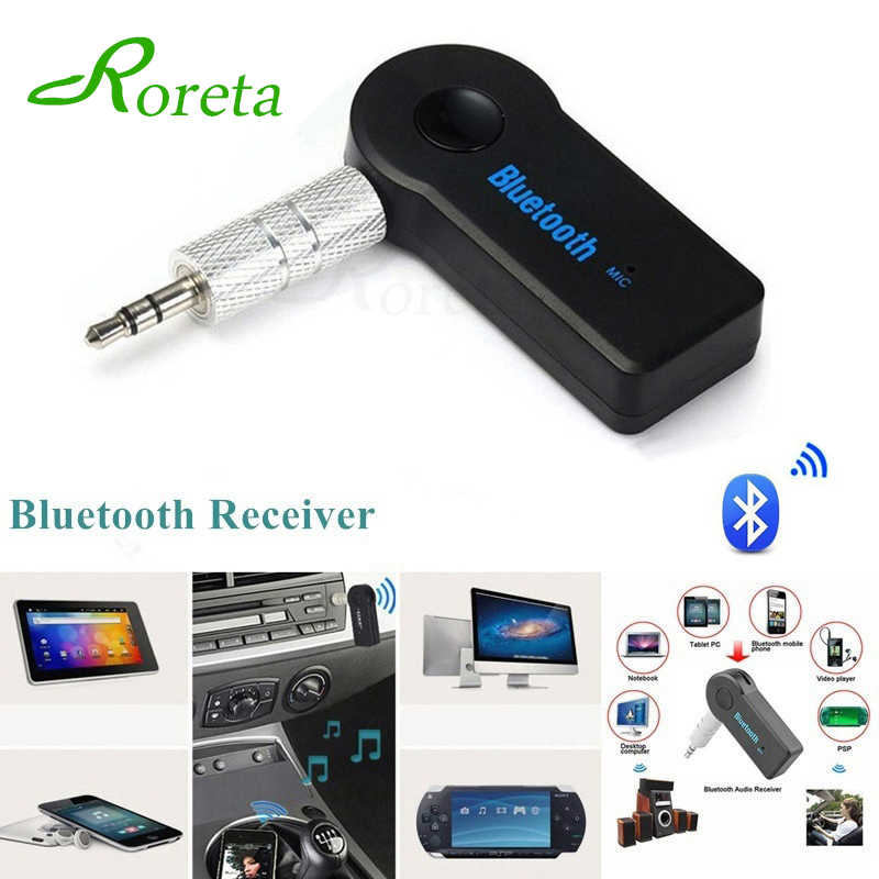 Roreta Aux 3.5 Mm Jack Bluetooth Receiver Mobil Adaptor Nirkabel Panggilan Handsfree Bluetooth Adapter Transmitter Auto Musik Receiver