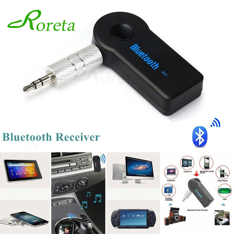 Roreta AUX 3.5mm Jack Bluetooth Receiver Car Wireless Adapter Handsfree Call Bluetooth Adapter Transmitter Auto Music Receiver máy xay sinh tố của đức