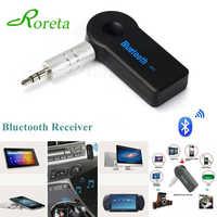Roreta AUX 3,5mm Jack Bluetooth receptor coche adaptador inalámbrico llamada manos libres Bluetooth adaptador transmisor Auto receptor de música