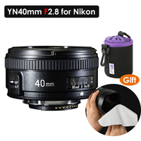 YONGNUO 40MM F2.8 Lens Light weight Standard Prime AF/MF Auto Manual Focus Lente YN40mm For Nikon DSLR Cameras