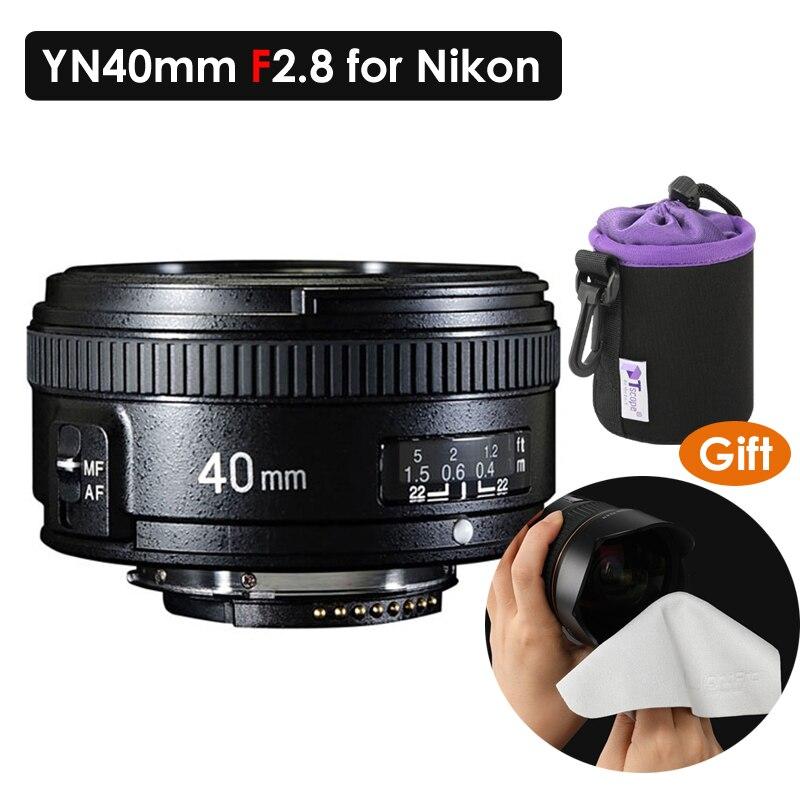 YONGNUO 40mm F2.8 Lentille Lumière-poids Standard Premier AF/MF Auto Mise Au Point Manuelle Lente YN40mm Pour Nikon appareils Photo REFLEX Numériques