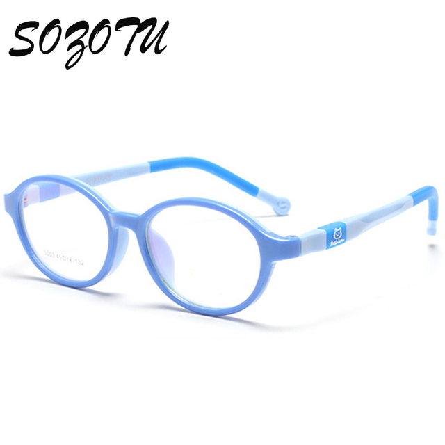 SOZOTU Estudante Óculos De Armação Crianças Óculos de Miopia Prescrição Óptica Crianças Armação de óculos Para O Bebê Boys & Girls YQ123