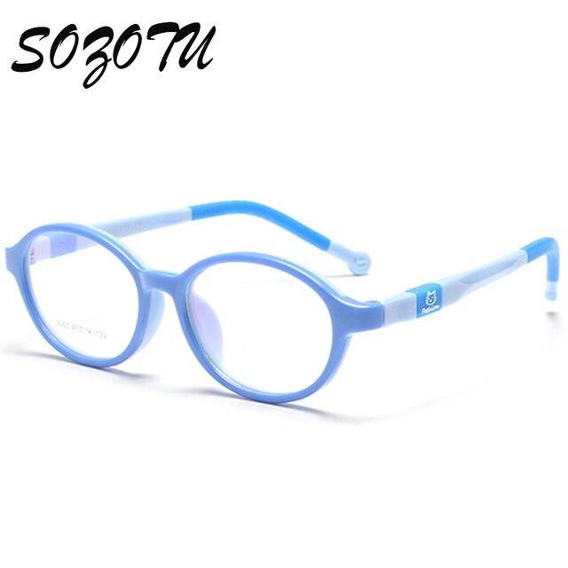 SOZOTU Student Glasses Frame Children Myopia Prescription Eyeglasses Optical Kids Spectacle Frame For Baby Boys&Girls YQ123
