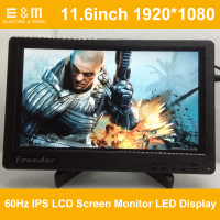 E&M 11.6 inch 1920*1080 IPS LCD Screen Monitor LED Display Speaker HDMI VGA Audio in Xbox PS4 Raspberry Pi 3 Mp4 Player Module
