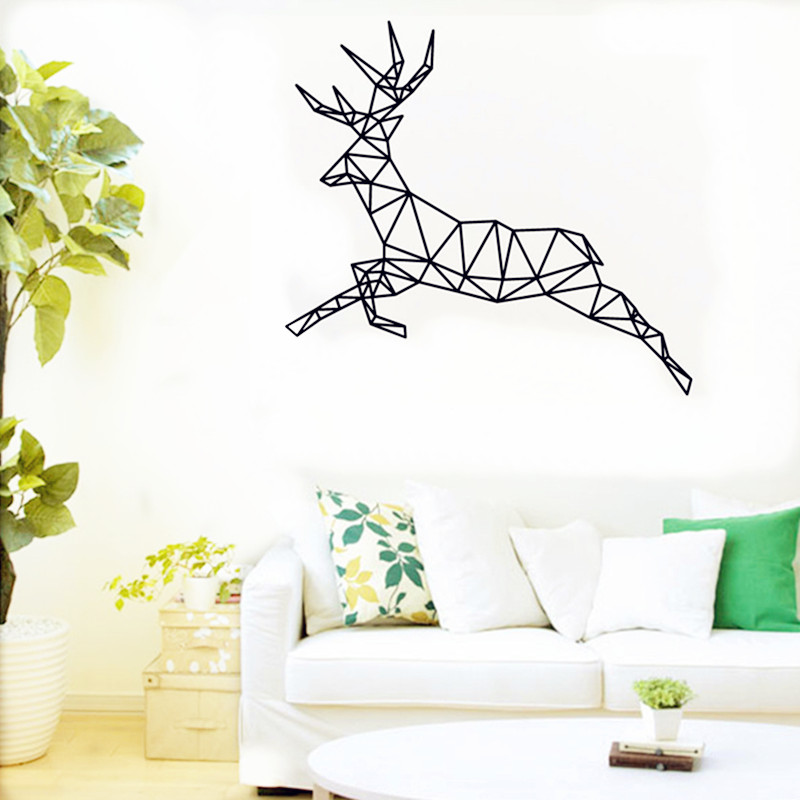 Aliexpresscom Buy Buckoo New Design DIY Deer Wall Sticker - Custom vinyl wall decals deer