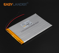 4 7x70x108mm 3 7V 4500mAh Rechargeable Li Polymer Li Ion Battery For Tablet MID Panel E