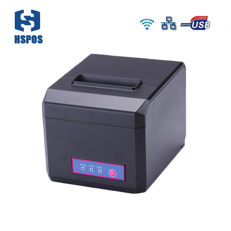 все цены на  Thermal 80mm wifi pos receipt printer usb ethernet interface 300mm/s high speed also can support 58mm ticket printer with cutter  онлайн