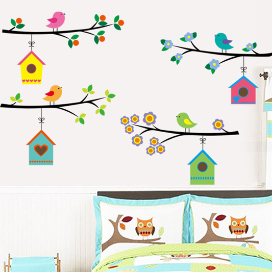 1Pc/Set New Large Animal Tree Vinyl Wall <font><b>Stickers</b></font> Nursery Decor <font><b>Stickers</b></font> Decoration For <font><b>Children</b></font> <font><b>Stickers</b></font> DIY Wall Decor