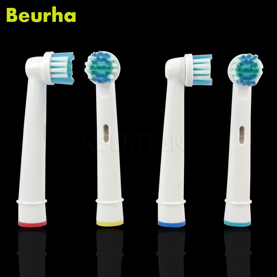Фото Teeth Clean 4Pcs Electric Toothbrush Heads Replacement Vitality Precision For EB 17 SB-17A Tooth Brush