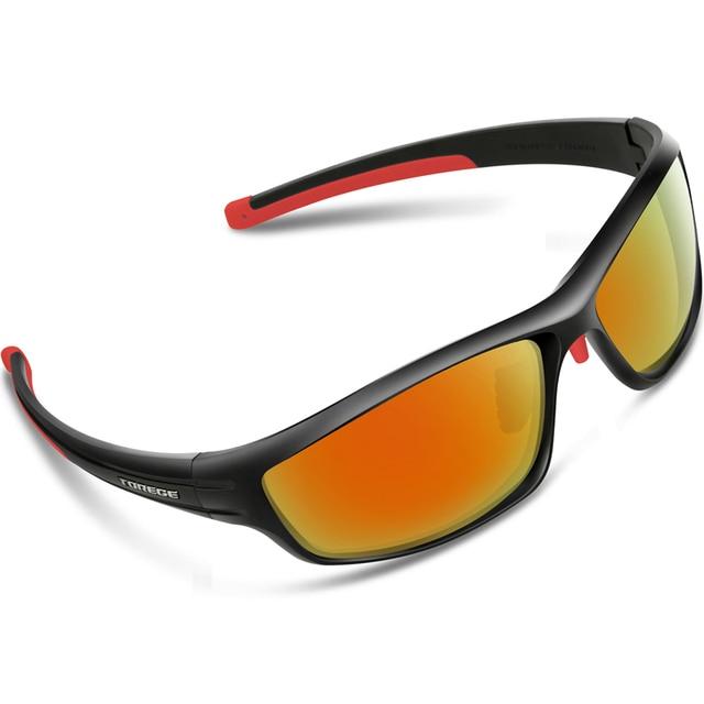 Lunettes de cyclisme Homme Sports Lunettes de soleil polarisées avec 5objectifs interchangeables Baseball Course à Pied Pêche Conduite Golf Chasse randonnée à vélo Protection UV 100% Femme, blanc