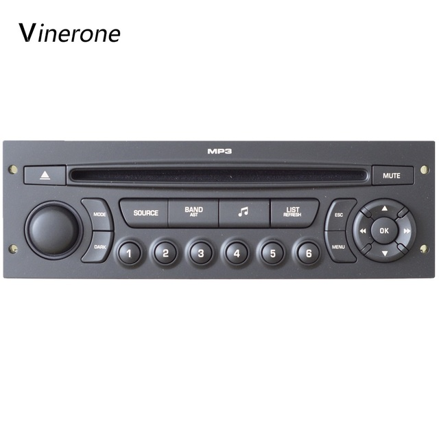 original rd45 car radio usb bluetooth mp3 for peugeot 207. Black Bedroom Furniture Sets. Home Design Ideas