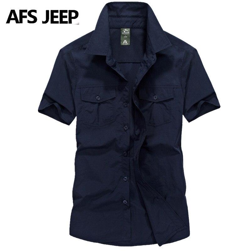 Brand Men Short Sleeve Battlefield Military Shirts Big Size Young Men Summer Casual Shirts Quick-drying Waterproof Shirts 65105