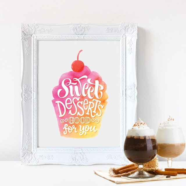 All You Need Is Love and A Cupcake Art Print