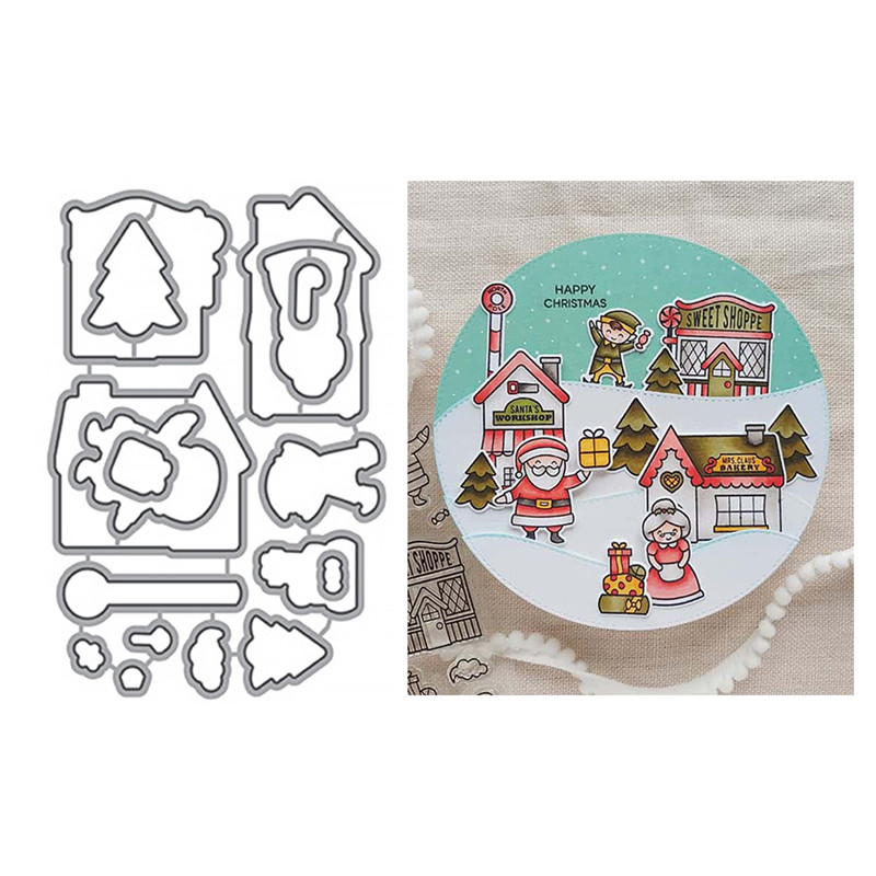 Eastshape Christmas Cutting Dies For Scrapbooking Clear Stamps Card Making Album Embossing Crafts Stencil Craft Stamps And Dies in Cutting Dies from Home Garden