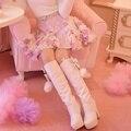 Princesa sweet lolita saia doces sweet estereoscópico flor saias princesa saia de fleabane amarga saia c16cd6128