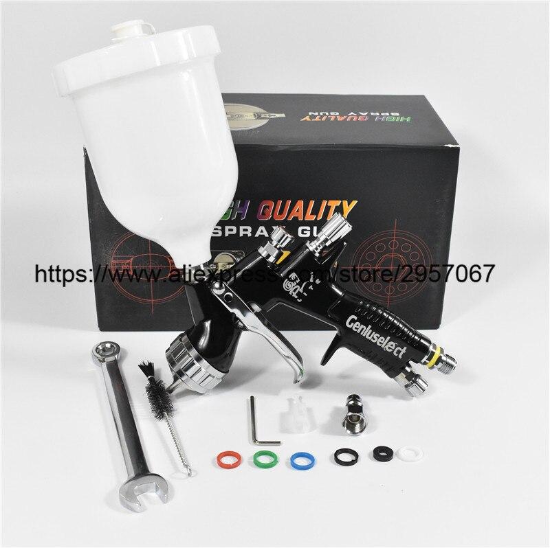 SPRAY GUN high quality professional Gti pro lite black painting gun T110 TE20 1 3mm nozzle