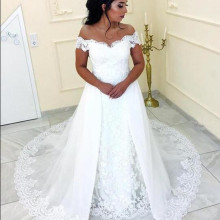 SexeMara Wedding Dress with Sweep Train Backless