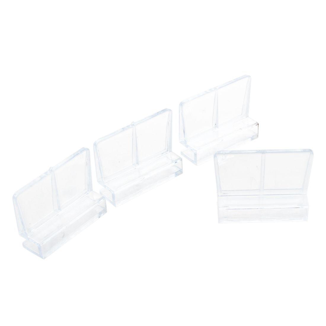 Aquarium fish tank plastic cover - Aquarium Fish Tank Glass Cover Clip Support Holder 6mm 4 Pack