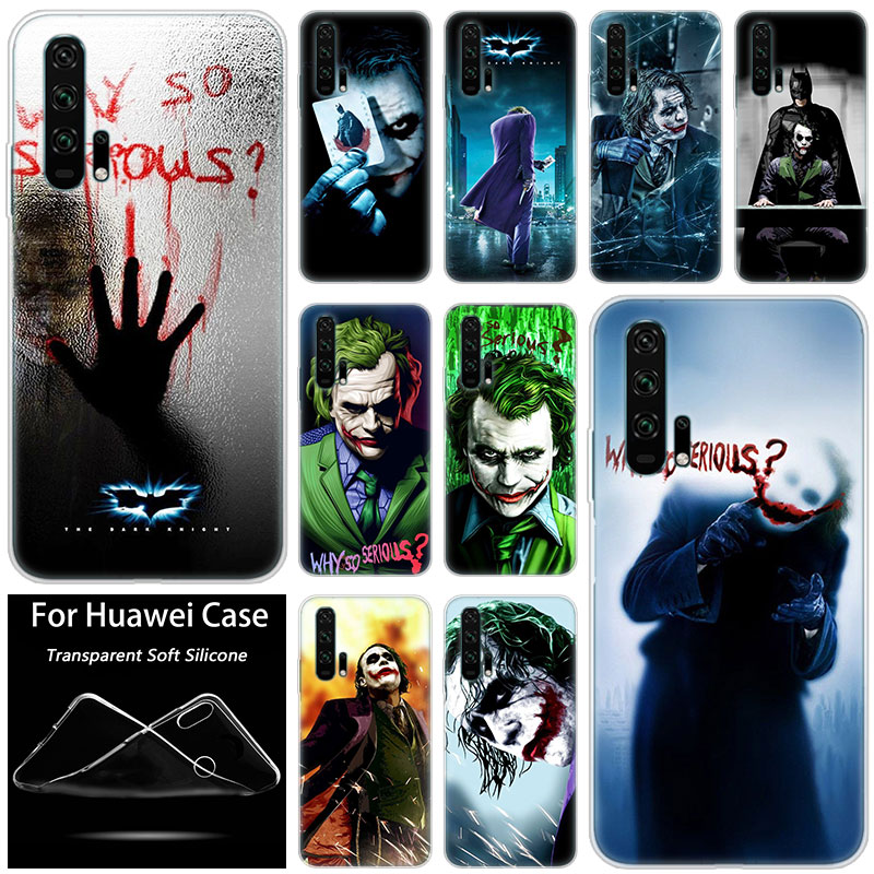 Hot The dark knight joker Fashion <font><b>Silicone</b></font> <font><b>Case</b></font> for <font><b>Huawei</b></font> <font><b>Honor</b></font> 20 8A 7A Pro 10 9 8 Lite View 20 7S 8S 8X <font><b>7X</b></font> 6X 8C 20i 10i Play image