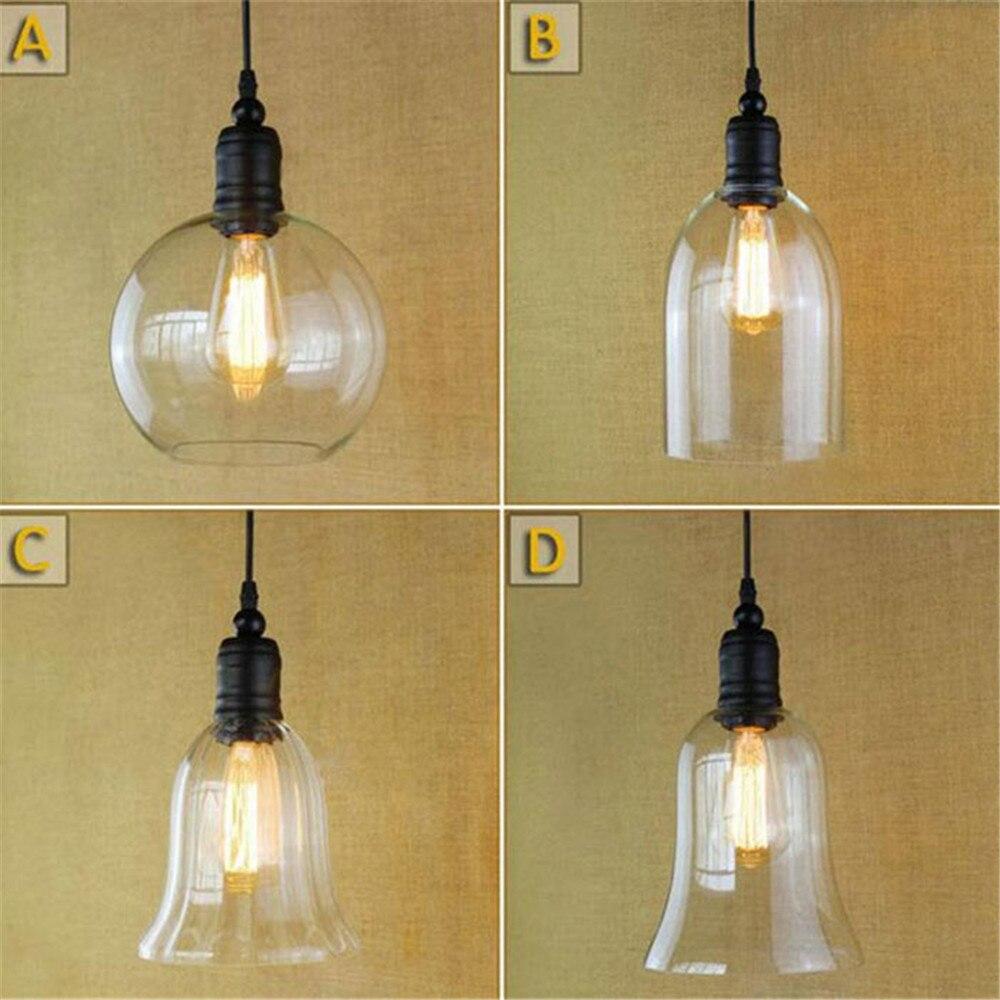 Glass ceiling pendant lamp light vintage industrial metal - Lampara industrial techo ...