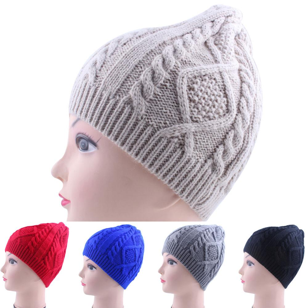 Winter Hat Hemp Flowers Knitted Hat Europe And American Retro Wool   Beanies   Unisex Warm Winter Cap Knit Hat High Quality New