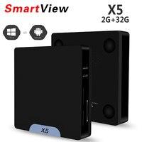 X5 Mini Smart PC Atom Processore x5-Z8350 Windows10 & Android 5.1 TV Box 2 GB 32 GB Bluetooth 4.0 1000 M LAN 2.4G WiFi set top box