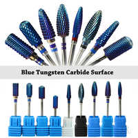 1Pcs High Quality Nail Manicure Bit Blue Tungsten Carbide Surface File For Electric Cuticle Manicure Machine Nail Art Tool BE308