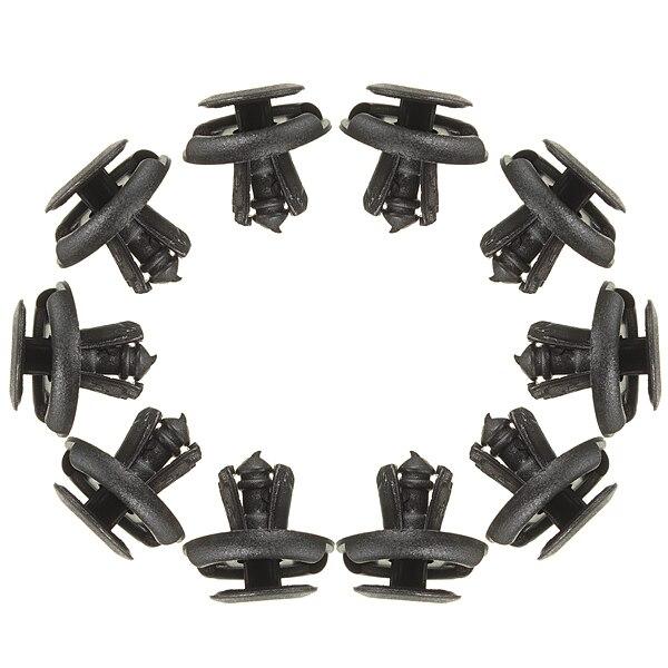 10pcs 7mm for fender black shield push type splash retainer rivet fastener clip for suzuki. Black Bedroom Furniture Sets. Home Design Ideas