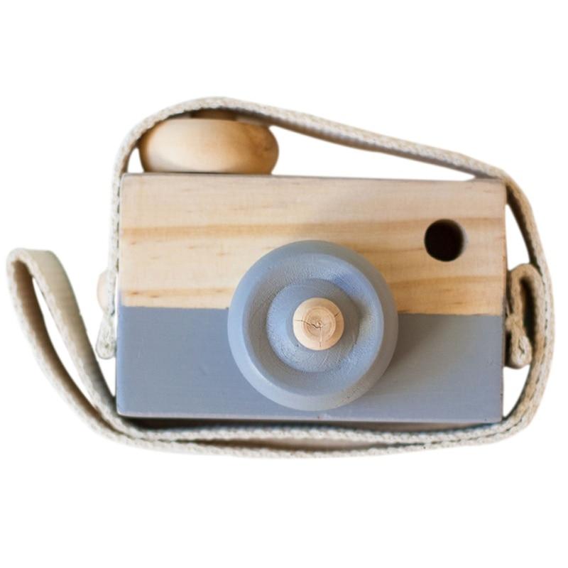 Скандинавский Европейский стиль камера Игрушки для маленьких детей декор комнаты предметы мебели ребенок Рождество День рождения деревянные подарки - Цвет: Grey